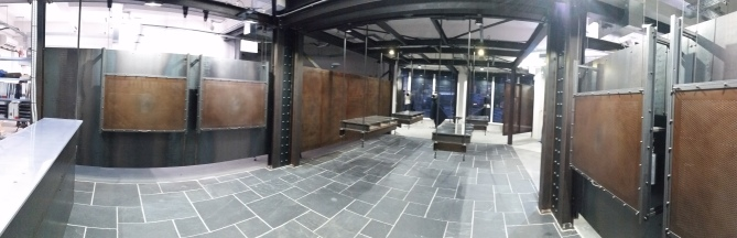 panorama image of showroom